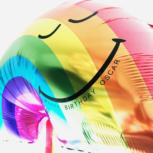 Rainbow Foil Balloon Image